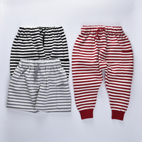 Boys Winter Pants 2016 Kids Pants Bobo Choses Winter Toddler Baby Girls Striped Knitted Trousers Warm
