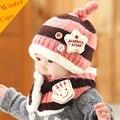 Новое Прибытие Младенца Вязания Крючком Шляпа Мальчики Девочки Дети Зима Теплая Шапки Шарф Набор Детей Вязаный Шерстяной Шапочки