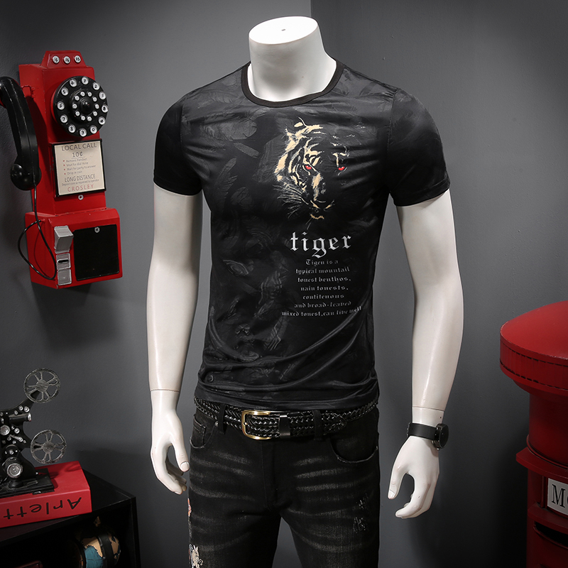 The new summer 2019 The comfortable tencel ICONS Hollow out breathable Printing short sleeve T shirt men C9012 P45-in T-Shirts from Men's Clothing on Aliexpress.com | Alibaba Group 11