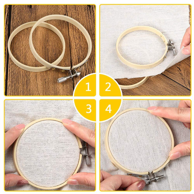 Image 5 - Hot Sale 20 Pieces 3 Inch Bamboo Embroidery Hoops Round Wooden Circle Cross Stitch Hoop Round Ring For Art Craft Handy Sewing-in Sewing Tools & Accessory from Home & Garden