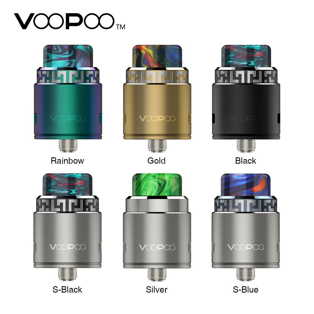 Original VOOPOO Rune RDA Atomizer 26mm Diameter Features Side Airflow 510 Thread with BF Pin Suit Squonk Mod E-cig RDA Atomizer цена
