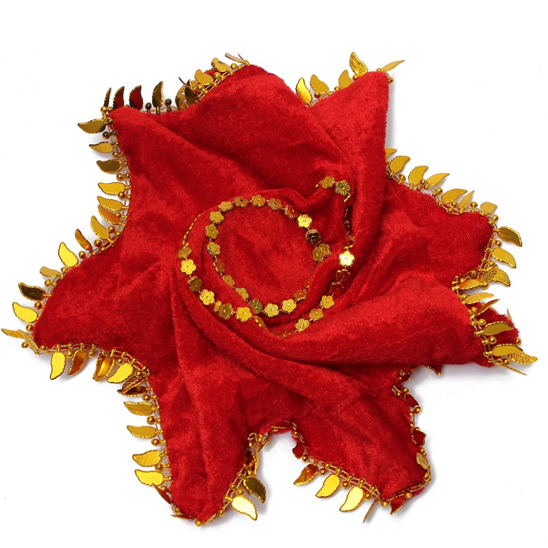 NEW ARRIVAL New Velvet Red Flower Handkerchief Dance Duet Chinese Tradition Hot Sale
