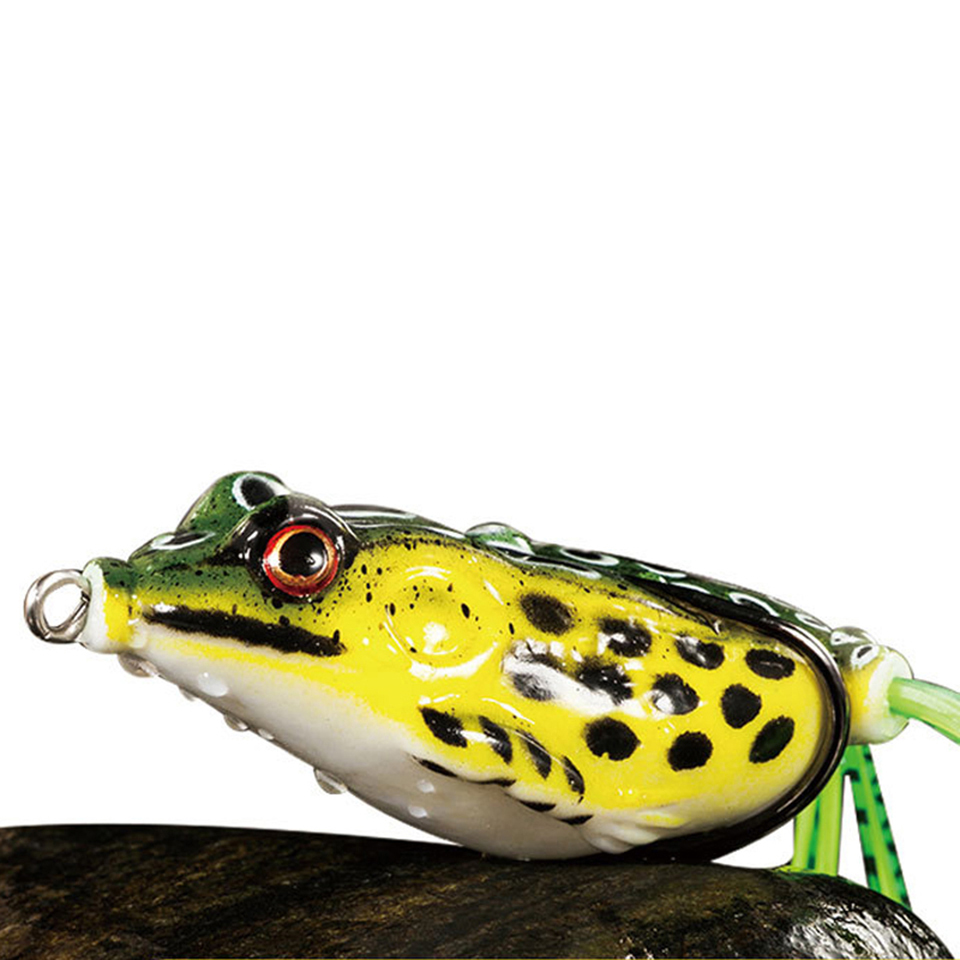 1PC 5cm 10g Frog Lure Fishing Lures Treble Hooks Top Water Ray Frog Artificial Minnow Crank Strong Artificial Soft Bait