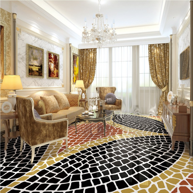 ФОТО Free shipping custom living room bathroom home decoration wallpaper floor roll 3d fashion simple abstract flooring painting