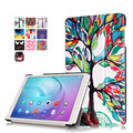 """9H Tempered Glass Screen Protector Film + PU Leather Stand Cover Case for Huawei Mediapad T2 10.0 Pro (FDR-A01W) 10.1"""" Tablet"""