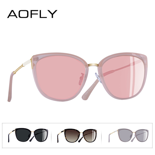 AOFLY BRAND DESIGN New Cat Eye Sunglasses Women Fashion Small Polarized Sunglasses Metal Legs Shades UV400 A105 3