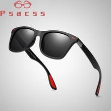 Psacss 2019 Brand Designer Polaroid Sunglasses For Men Square High Quality Vintage Driving Sun Glasses Male Goggle Shades UV400