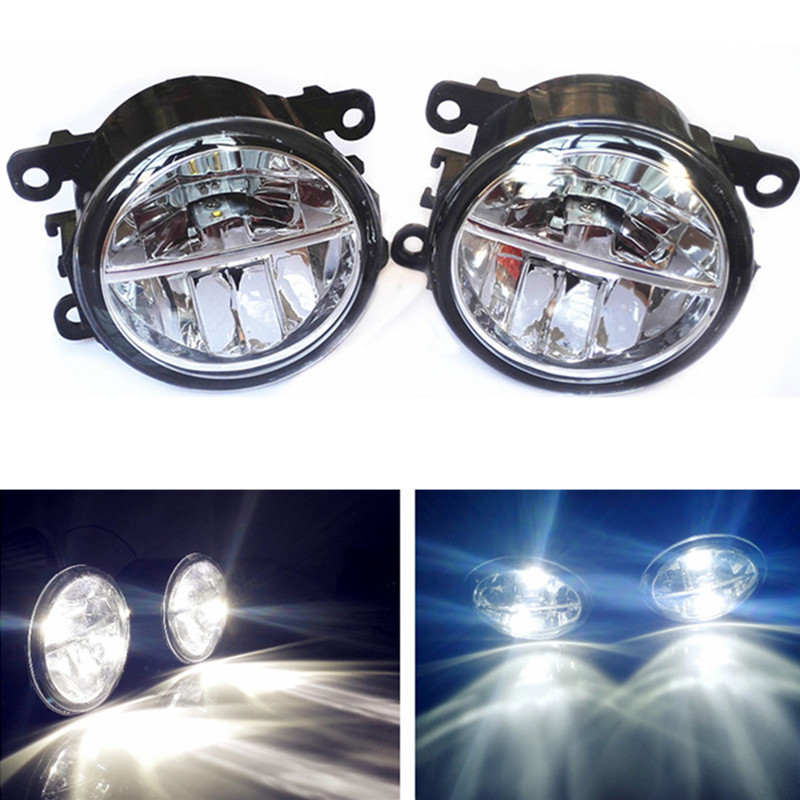 Car styling led Fog Lights For DACIA Duster Closed Off-Road Vehicle  2010-2015 fog lamps 10W DRL 1SET car styling led fog lights for mitsubishi pajero iv v8 w v9 w closed off road vehicle 2007 2012 fog lamps 10w drl 1set