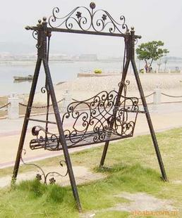 Fashion Wrought Iron Furniture Wrought Iron Garden Swing Iron Park