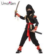 Umorden Purim Childrens Day Halloween Costumes Boy Boys Warrior Ninja Costume Martial Arts Cosplay for Kids Children