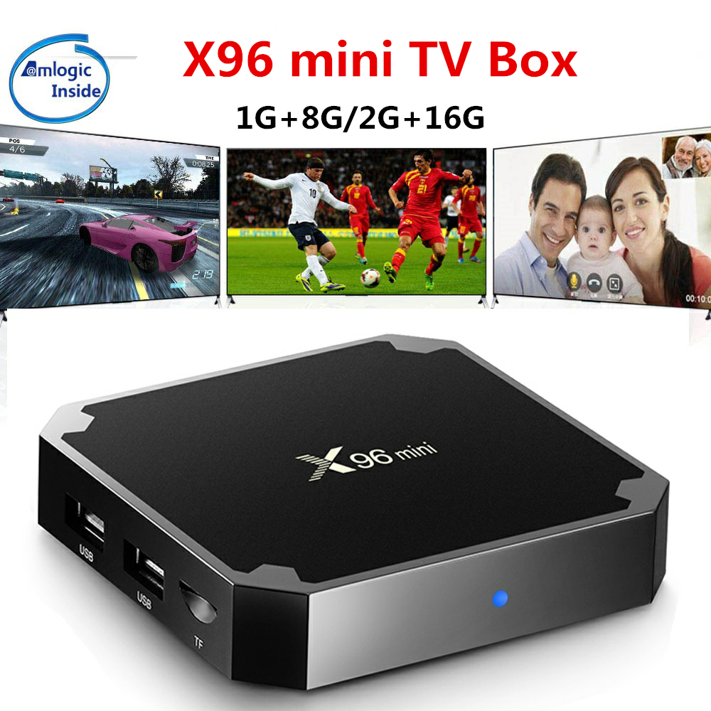 X96 mini Android 7.1 TV BOX 2GB 16GB Amlogic S905W Quad Core 2.4GHz WiFi Media Player 1GB 8GB X96mini Set-top Box with IR Cable rikomagic rkm mk06 tv set top box amlogic s905 quad core android 5 1 1gb 8gb 2 4g wifi bluetooth 4 0 smart media player tv box
