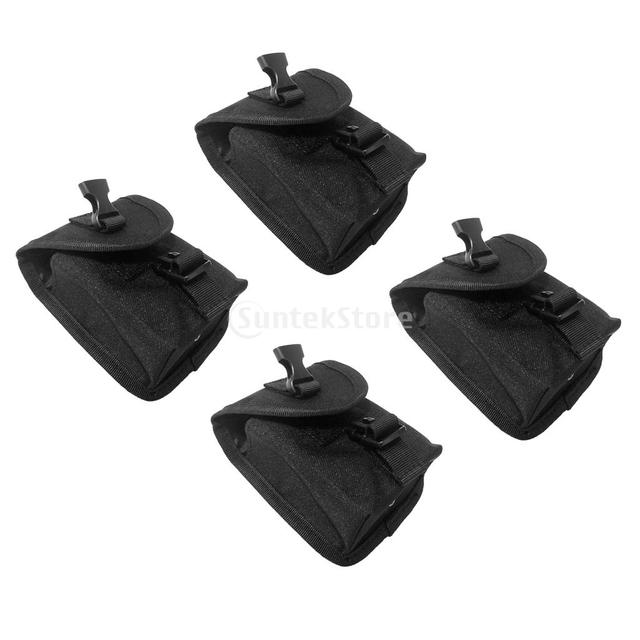 Pack of 4pcs Scuba Diving Spare Weight Belt Pocket with Quick Release Buckle Diving Weight Belt Pocket Diving Accessories