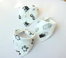Muslin 4 layers Cotton 3pcs/lot New Fashion Baby Bibs Burp Cloths Saliva Towel Arrow Trangle Bib Bandana Accessories