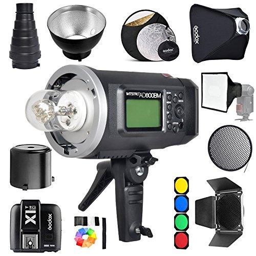Godox AD600BM Bowens Mount 600Ws GN87 1/8000 HSS Outdoor Flash Strobe Monolight with X1T Wireless Trigger/ 32X32Softbox/ Stand