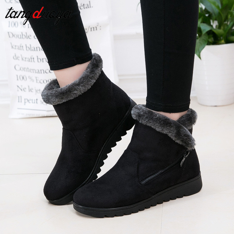 winter ankle boots for women female shoes winter snow boots warm shoes woman low heel shoes women short boots 2018 botas mujer