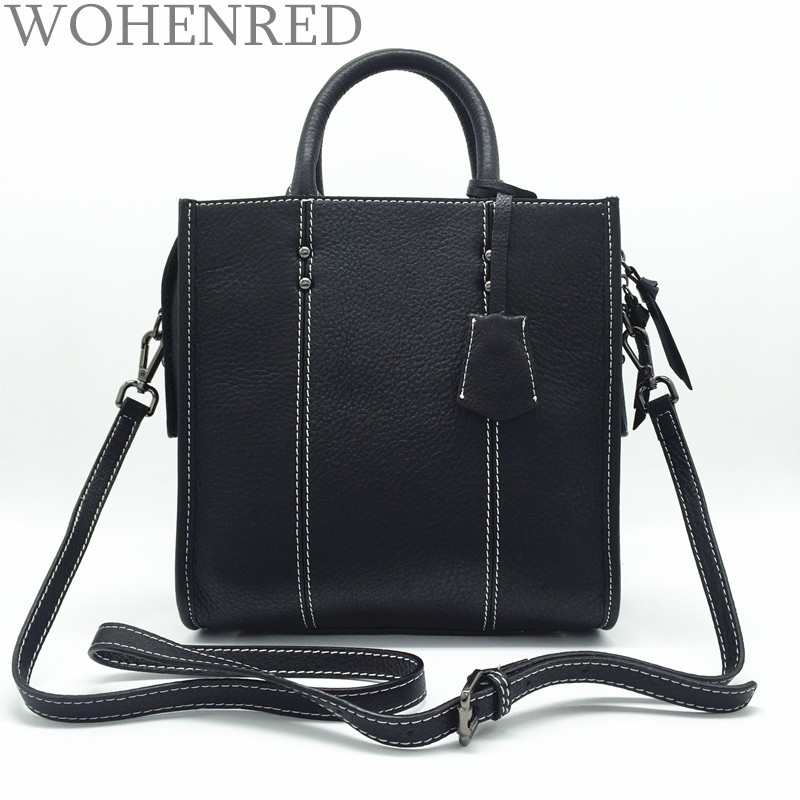 100% Genuine Leather Bags Handbags Women Famous Brands Satchel Female Shoulder Bag High Quality Luxury Fashion Bags For Girls 2016 new hot luxury plaid women bags handbags high quality leather bags for women shoulder bag famous brand chain shell bag