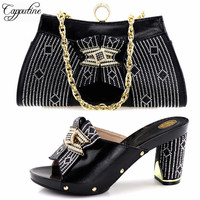 Capputine High Quality Italian Ladies Shoes And Matching Bags African Style Woman Shoes And Bags Set