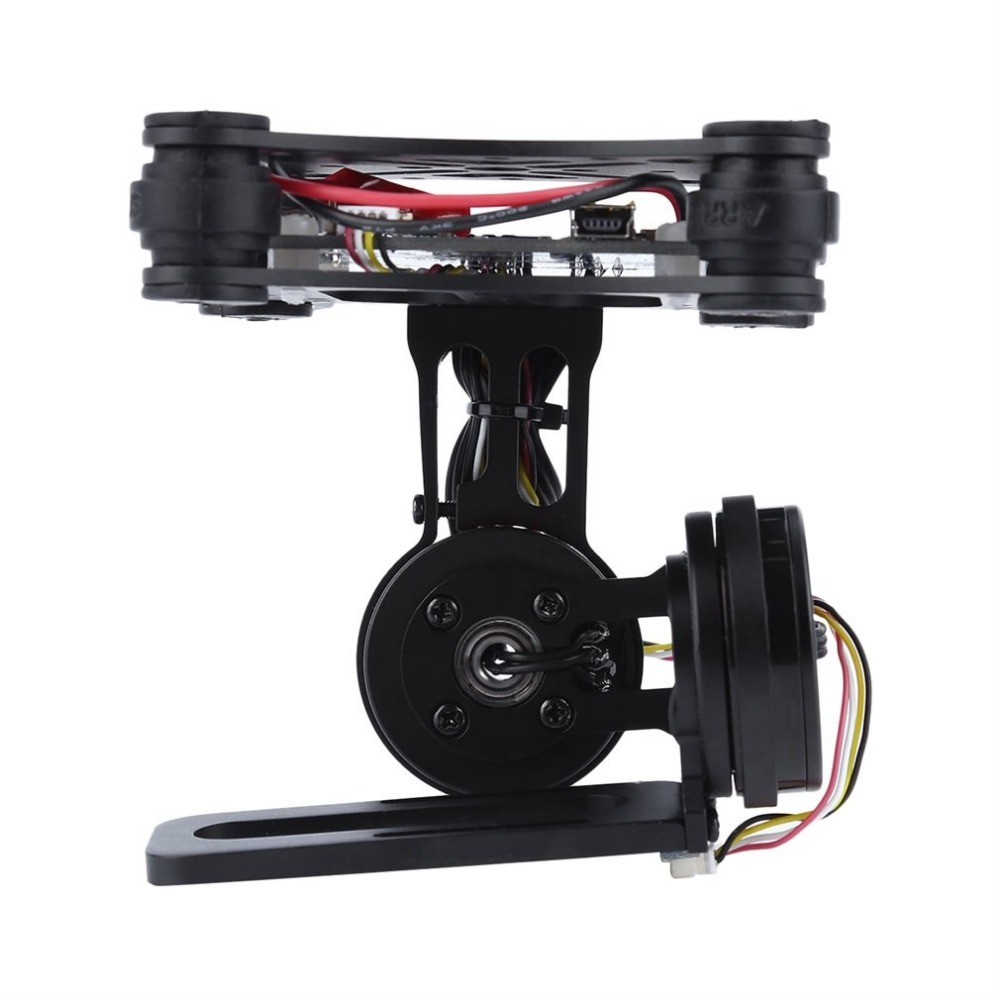 Black FPV 2 Axle Brushless Gimbal With Controller For DJI Phantom GoPro 3 4 dji phantom fpv only 180g 3 axis cnc metal brushless gimbal for gopro 3 4 rc camera drone transmission with controller
