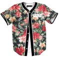 2016 summer new fashion mens shirts tops flowers full print baseball shirts short sleeve harajuku floral streetwear shirts