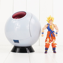 Anime Dragon Ball Z Vegeta Vaisseau Spatial Super Saiyan Led Capsule Spatiale DBZ PVC Figurines Jouet