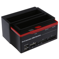 2.5/3.5 SATA IDE HDD Docking Station cloned USB 2.0 HUB(Card reader MS / M2 / XD / CF / SD / TF)