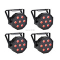 4PCS FREE Shipping  7X9W LED CAN FLAT PAR64 DMX LIGHT RGBW DJ Wedding Stage Light L7 good quality