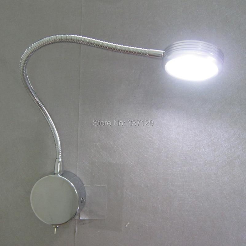 Free Shipping(2pcs/lot) Headboard Lamps for Reading/Edison LED 3Watt/180-210LM/Polished Chrome Finish/Quality LED and Driver high quality 12v gy6 35 led lights gy6 35 lights led g6 35 bulb g6 led free shipping 2pcs lot