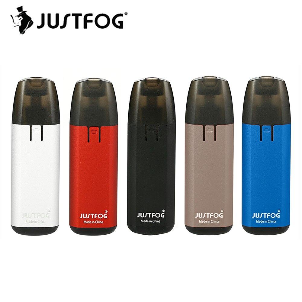 Vente chaude JUSTFOG MINIFIT Starter Kit avec Built-In 370 mah Batterie et 1.5 ml Rechargeable Cartouche E-cig Vaporisateur MINIFIT Kit