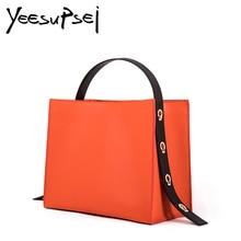 YeeSupSei Women Hard Leather Handbag Women Big Casual Female Bag Tote Spanish Wide Strap Shoulder Bag Lady Large Bolsos Mujer