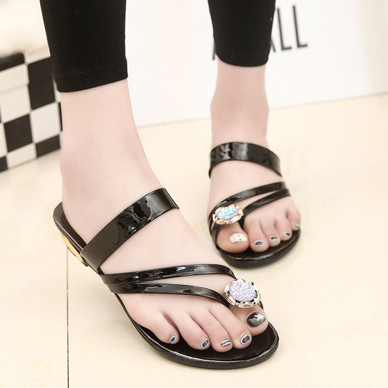 2019 NEW Women Sandals Fashion Women Flats Sandals  Beach Summer Sandals Women Flip Flop Rhinestone Shoes T-strap Peep Toe Shoes2019 NEW Women Sandals Fashion Women Flats Sandals  Beach Summer Sandals Women Flip Flop Rhinestone Shoes T-strap Peep Toe Shoes