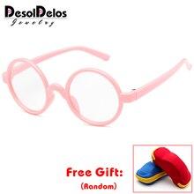 Милые детские круглые очки рамы Дети Твердые Гарри-Поттер оправы для очков близорукие линзы рамки для мальчиков и девочек детские очки