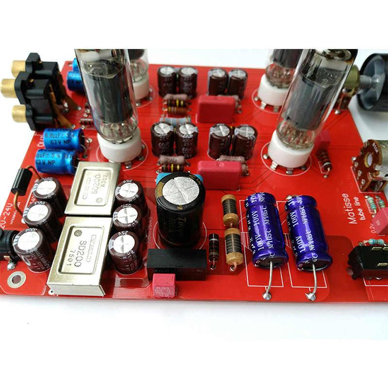 Ống Preamplifier Board 6K4 Preamp Ống Khuếch Đại Preamp Mật Đệm MINI HIFI Tone Ban Preamplifier DC12V-24V