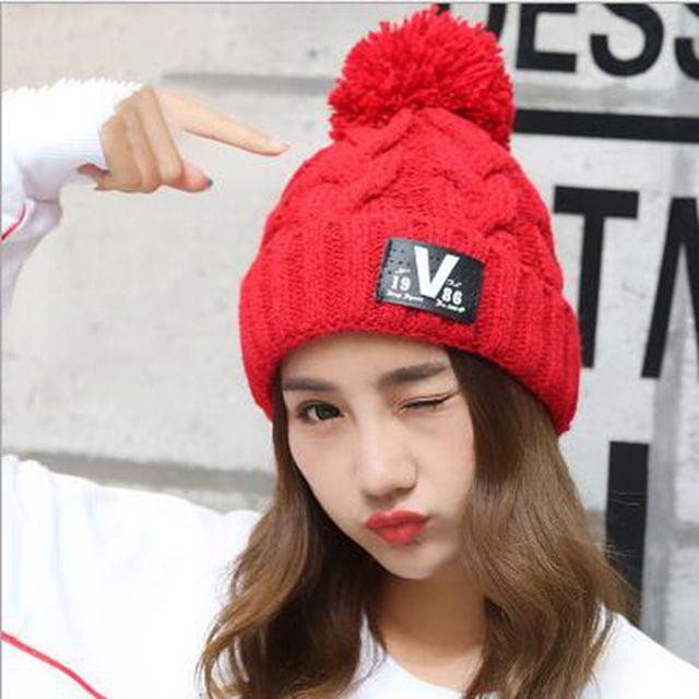 nuevos sombreros de invierno para las mujeres gorros gorros gorro de lana  elstico hip bf1725602dfc