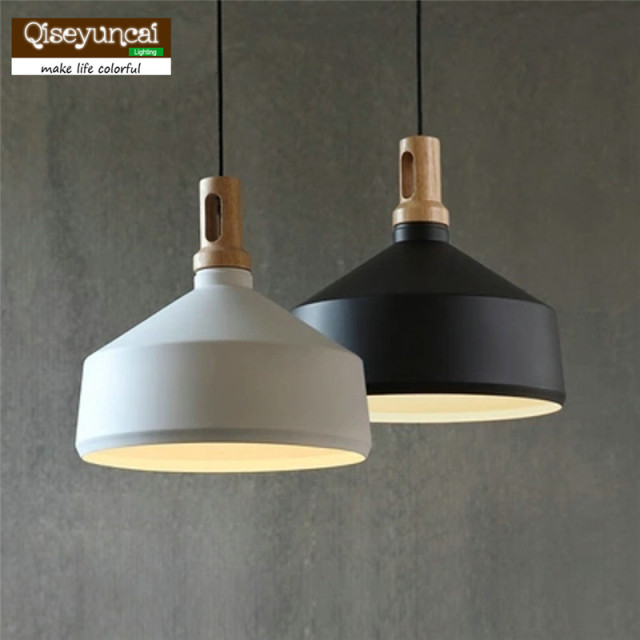 vintage nordique industrielle bois en aluminium pendentif lumi re loft suspension luminaire. Black Bedroom Furniture Sets. Home Design Ideas