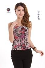 Breathable close skin silkworm silk knitting condole belt vest women render unlined upper garment