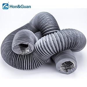Image 3 - Hon & guan 5 m/10 m tubo de escape ventilador flexível de alumínio duto ventilação duto mangueira de ventilação para ventilação doméstica (4 8 8 8 8 8 gray, cinza)