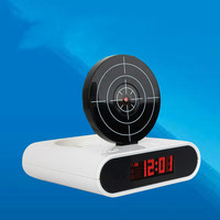 Creative Personality Lazy Alarm Clock LED Red Text Shows Digital Clock