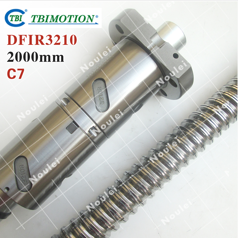 TBI ball screws 3210 L= 2000mm + 1pcs Ball nut DFI3210 / C7 ROLLED DFIR3210-4-D-F-C7-2000-P1 cnc part винт tbi sfkr 0802t3d