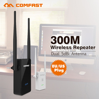 Comfast Wireless Wifi Repeater 802 11N B G Network Wifi Router Expander 300Mbps Dual 5dBi W