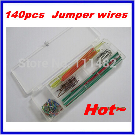 5 package=700pcs convenient New Solderless Flexible Breadboard Jumper wires Cables HOT Sale In stock