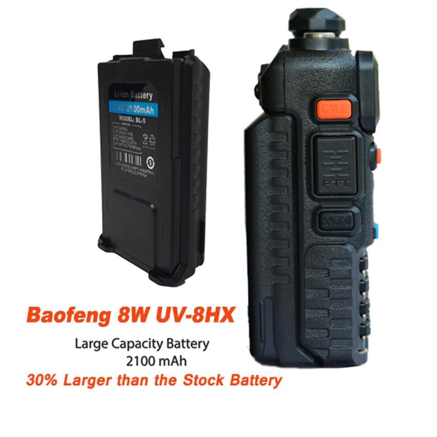 BAOFENG UV-5R 8W hangszóró vadászathoz UV-8HX UHF VHF kettős sáv CB Ham rádió Comunicador Baofeng UV5R amatőr rádió