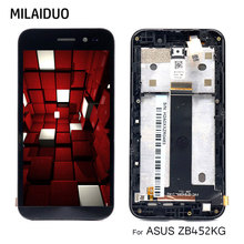 LCD Display For ASUS ZenFone Go ZB452KG X014D Touch Screen Digitizer Black With Frame Full Assembly Replacement