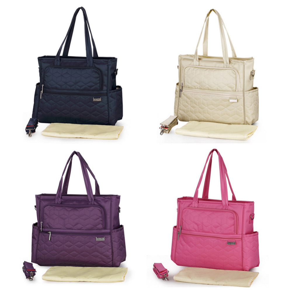 Fashion Baby Stroller Diaper Bag Waterproof Nylon Brand Handbags Mummy Maternity Nappy Bag  Large Capacity &Multi-pocket