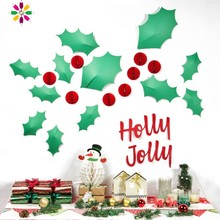 Pack Of 1 Set Christmas Decorations Wall Sticker For Home Decoration