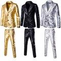 Los nuevos Mens Slim Fit Trajes de Novio Tuxedo Suit Padrinos de Boda del Novio Formal Tela Bronceado 020