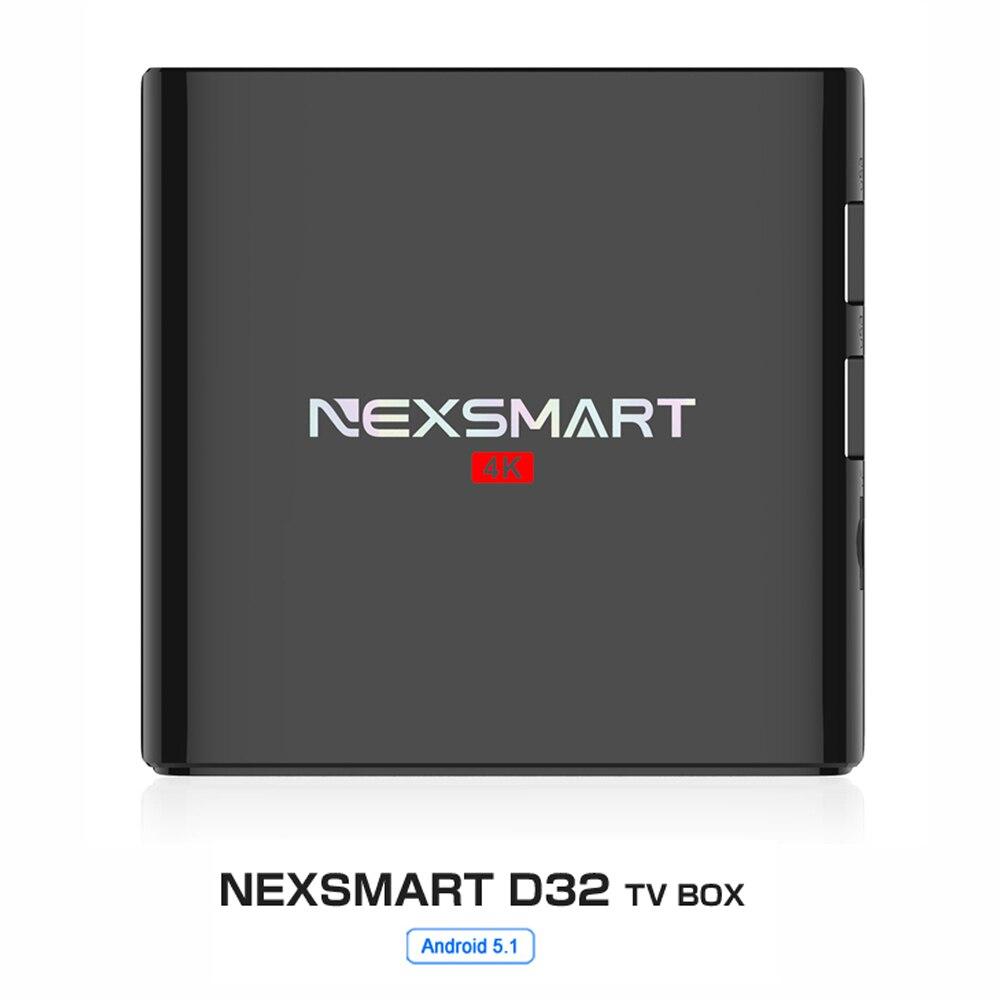 ФОТО NEXSMART D32 TV Box 1G 8G Smart TV Box Quad-core Armcortex A7 Android 5.1 32bit 1080P 4k 2.4G WiFi Set Top Box Medier Player