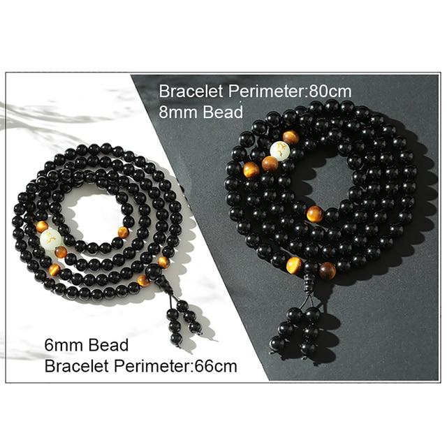 BOEYCJR Black Buddha Beads Bangles & Bracelets Handmade Jewelry Ethnic Glowing in the Dark Bracelet for Women or Men 2018 3