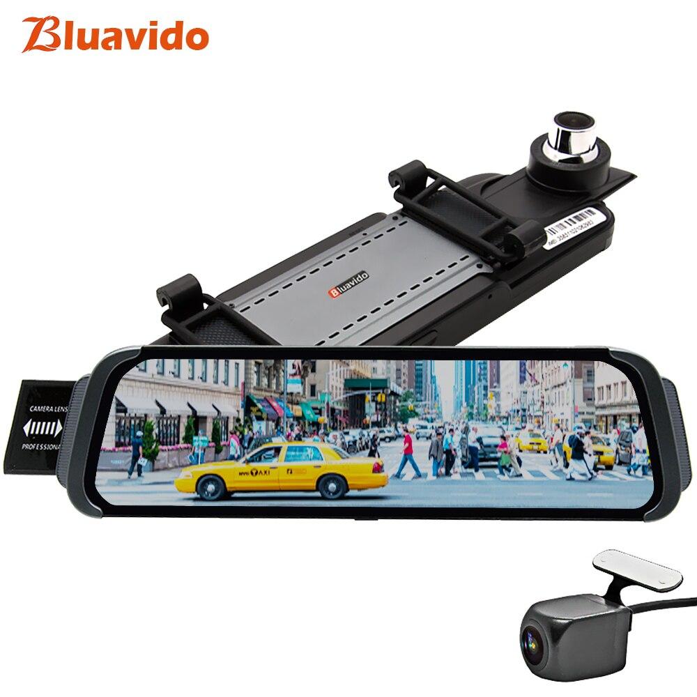 Bluavido 10 inch Mirror Car DVR 4G ADAS android GPS Maps FHD 1080P Car Rear View