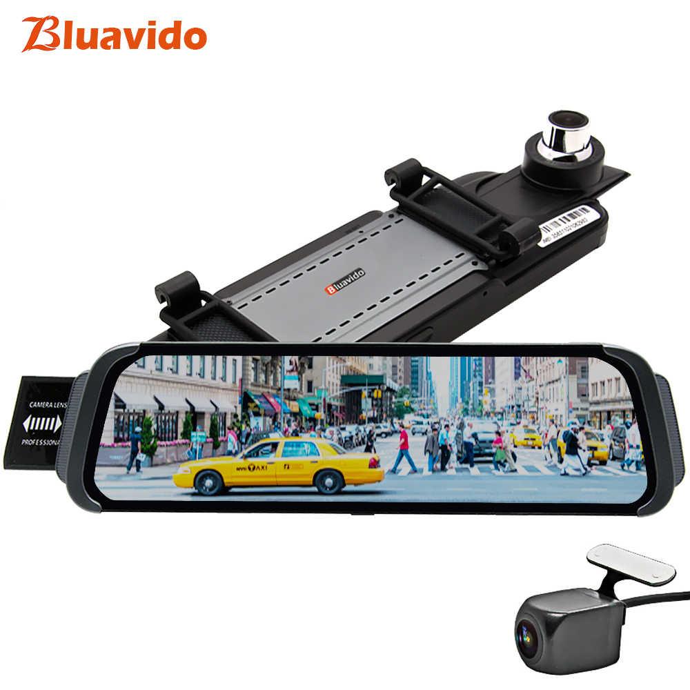 Bluavido 10 بوصة مرآة جهاز تسجيل فيديو رقمي للسيارات 4G أداس الروبوت GPS خرائط FHD 1080P سيارة الرؤية الخلفية مرآة مسجل فيديو ليلة الليلية داش كاميرا