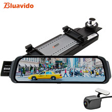 Bluavido 10 inch Mirror Car DVR 4G ADAS android GPS Maps FHD 1080P Car Rear View Mirror video recorder Night Vision Dash Camera(China)